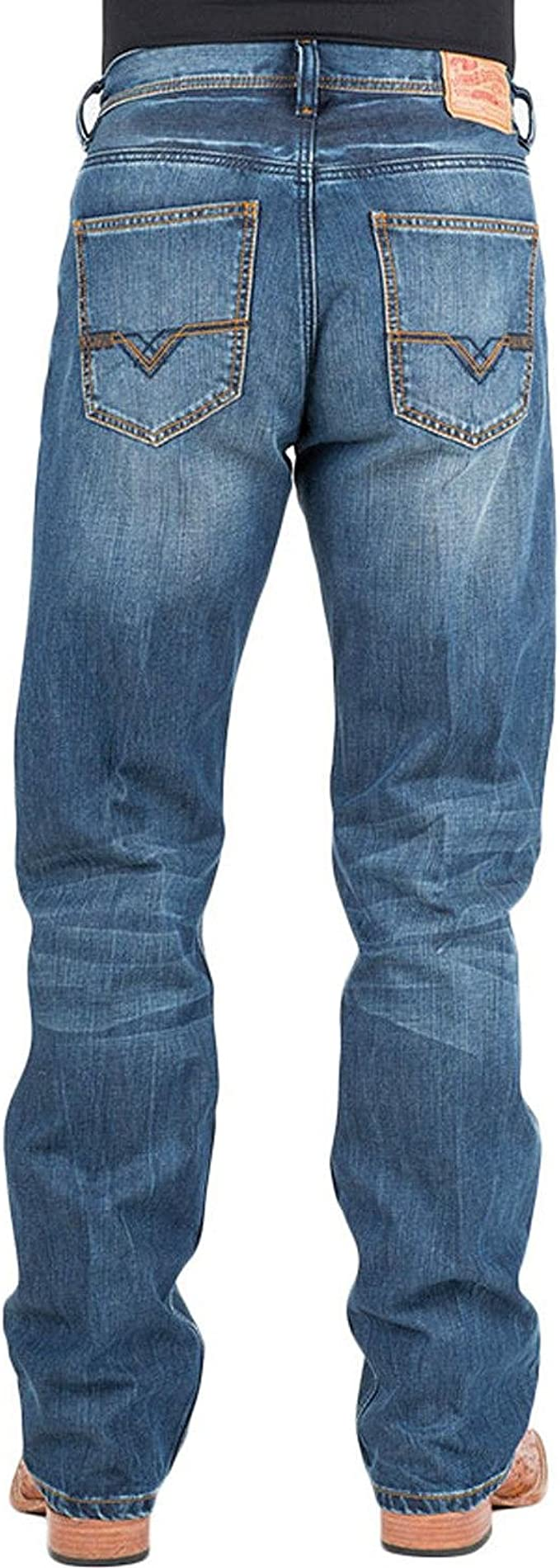 Stetson Mens Modern Fit Lower Rise Relaxed Thigh Loose Knee Jean
