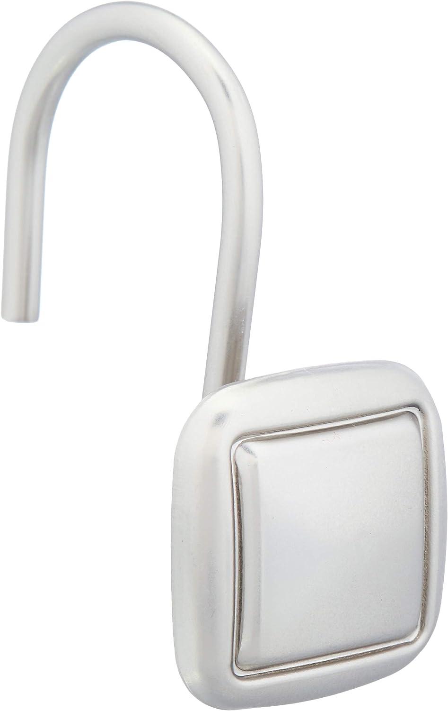 Ganchos para cortinas de ducha ganchos cuadrados forrados Basics n/íquel