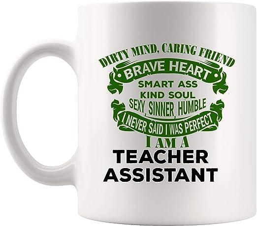 com proud teacher assistant mug coffee cup mugs gift
