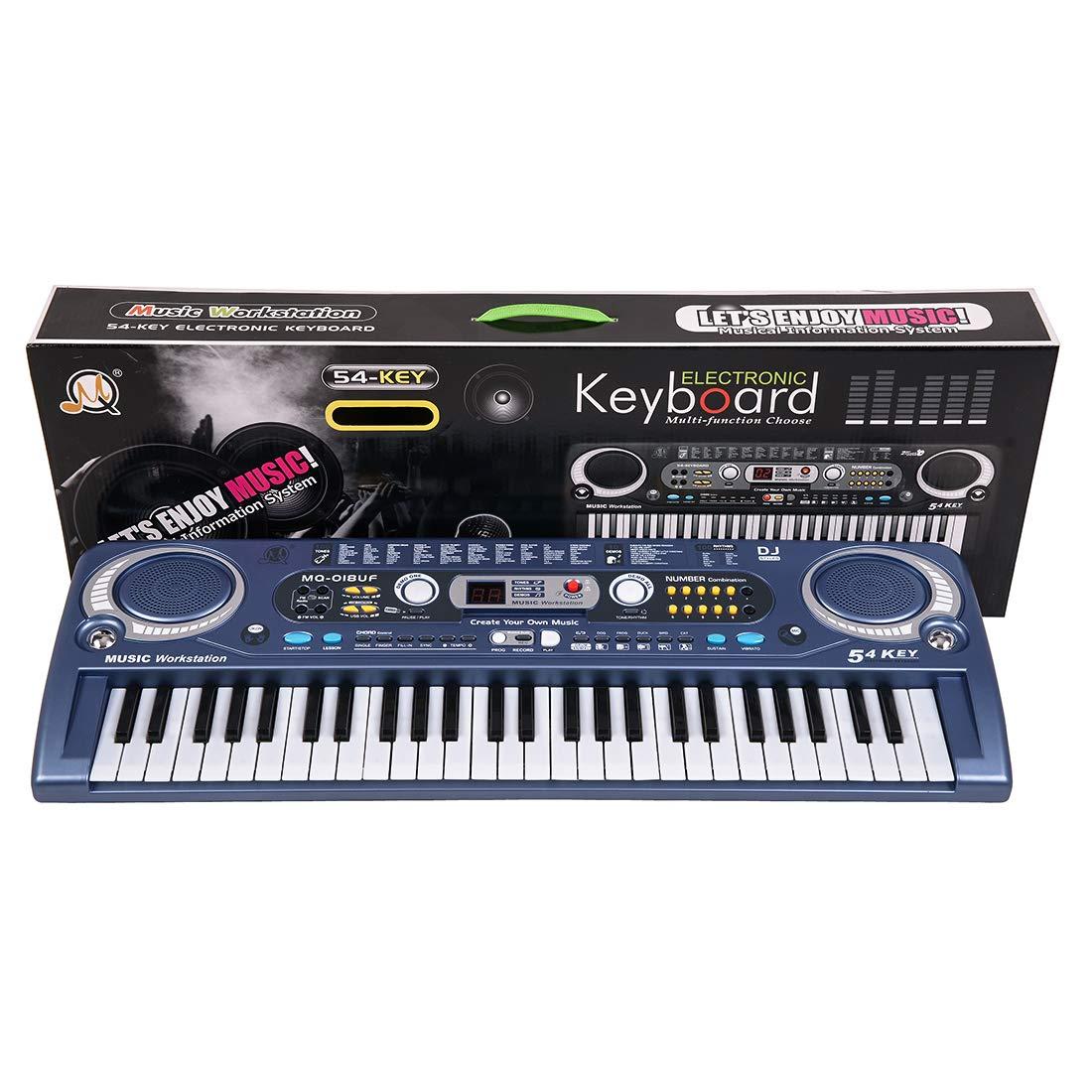Tosbess 54 Tasten Klaviere Keyboards Klavier für Kinder Multi-Funktion elektronische Orgel für Kinder und Anfänger