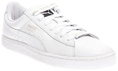 48a9bb1ac3fc PUMA Basket White x Trapstar Men s White Glacier Gray 361644-01 (9.5 D