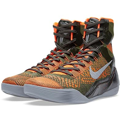 Amazon.com | Nike Kobe IX 9 Elite 'Strategy' 630847-303  Sequoia/Green/Silver Men's Basketball Shoes | Basketball