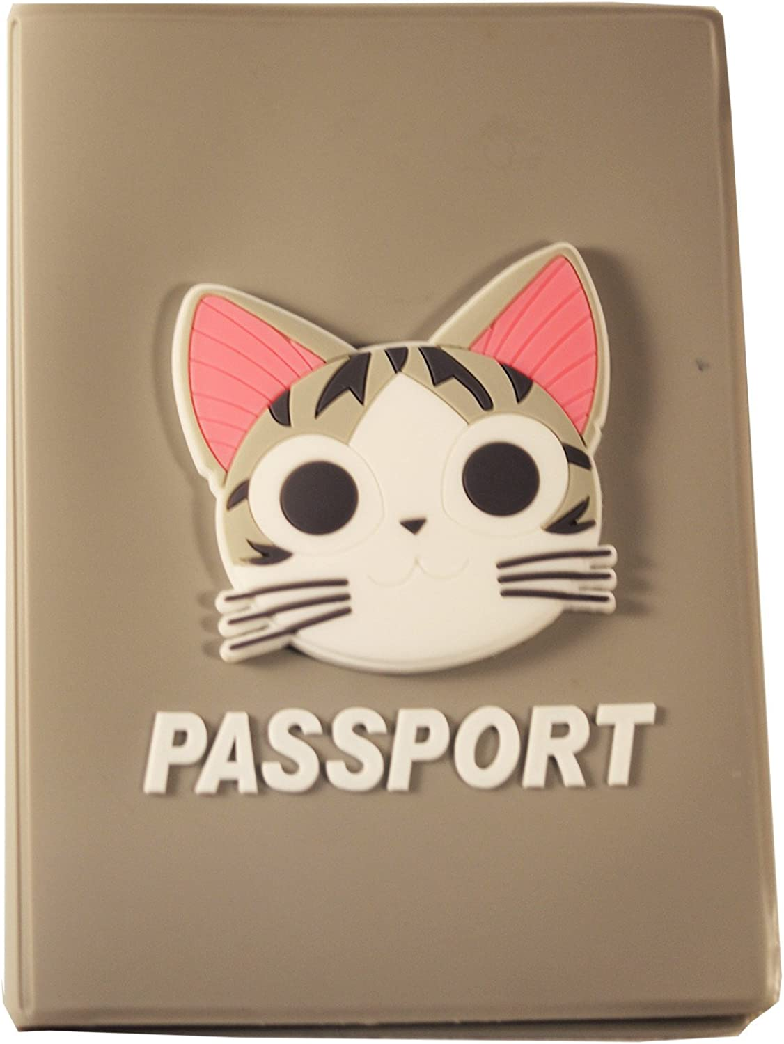 DIYJewelryDepot Gray Chis Cat Japanese Passport Cover ID Card Holder Travel Case