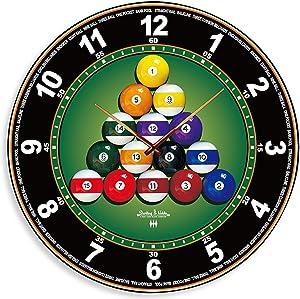 Sterling & Noble Billiard Mirror Wall Clock