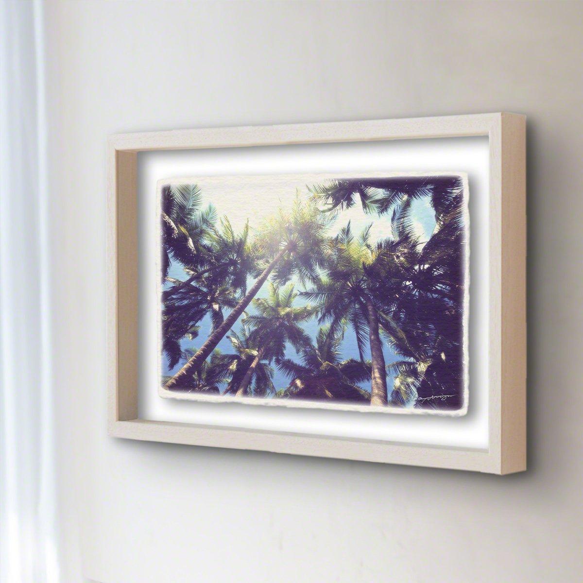 和紙 アートフレーム 「青空と太陽とヤシの木」 (32x26cm) 絵 絵画 壁掛け 壁飾り 額縁 インテリア アート B07BKQQPN4 22.アートフレーム(長辺32cm) 14800円|青空と太陽とヤシの木 青空と太陽とヤシの木 22.アートフレーム(長辺32cm) 14800円