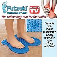 AS SEEN ON TV NEW :Futzuki Reflexology Mat Foot massager acupressure pain & Relieve stress treatment (Blue)