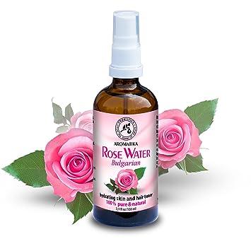 Agua de Rosas 100ml - Agua Floral de Rosa Damascena - 100% Puro y Natural - Rosa Aromática ...