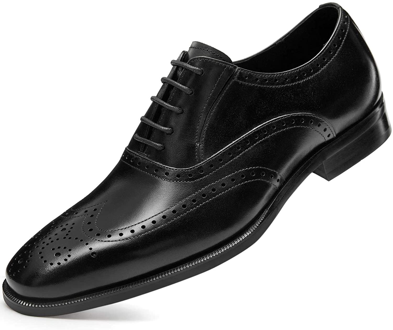 Homme Bracelet En Cuir Mocassins Boucle Slip On Casual Dress Oxford Bout Rond Chaussures SZ