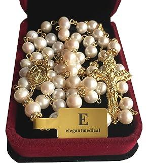 933d38ec6073 Católica rosario con perlas de Colorful Zircon cristales hecho a ...
