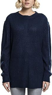 Urban Classics TB739 Damen Pullover Ladies Long Wideneck Sweater ... b9a5b2ffa3