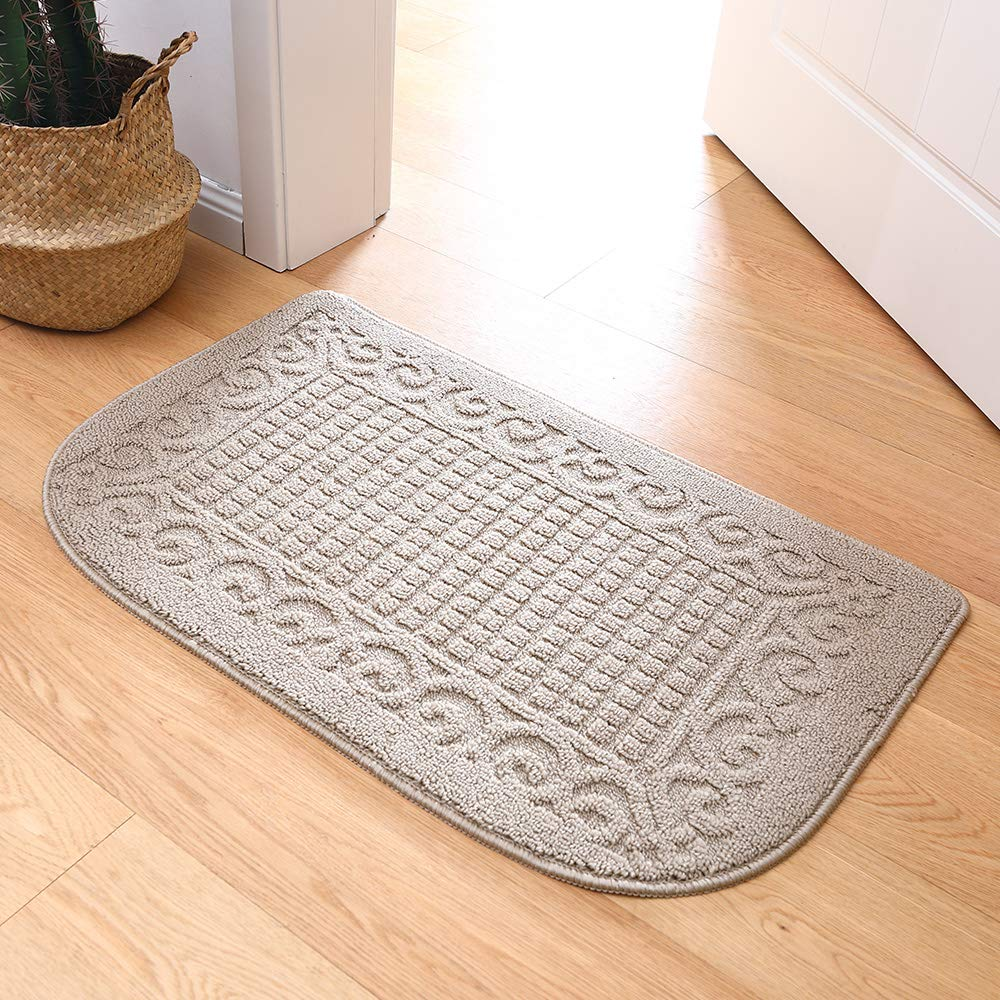 32x20in Beige 1pc 32X20 Inch Anti Fatigue Kitchen Rug Mats are Made of 100/% Polypropylene Half Round Rug Cushion Specialized in Anti Slippery and Machine Washable