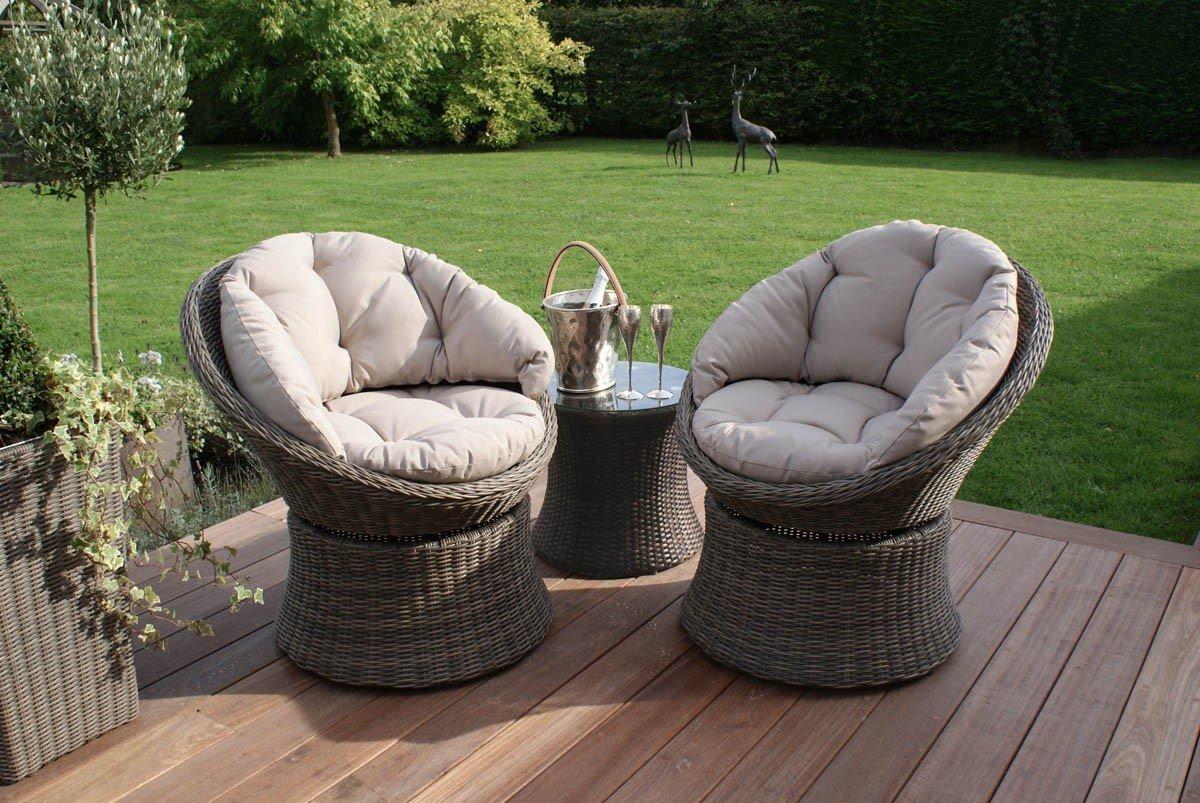 Al aire libre muebles de jardín de ratán Maze Winchester 3 piezas ...