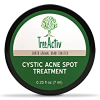 TreeActiv Cystic Acne Spot Treatment, Best Extra Strength Fast Acting Formula for...