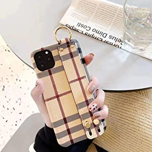 Phone Cases Compatible with iPhone 11 Pro Max,Stylish Classic Luxury Print Pattern PU Leather Back Cover Case Hand Strap Holder iPhone Case with Ring Cover for iPhone 11 ProMax 6.5inch(Color 2)
