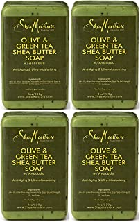 product image for Shea Moisture Olive & Green Tea Shea Butter Soap, 8 Oz (Pack of 4)