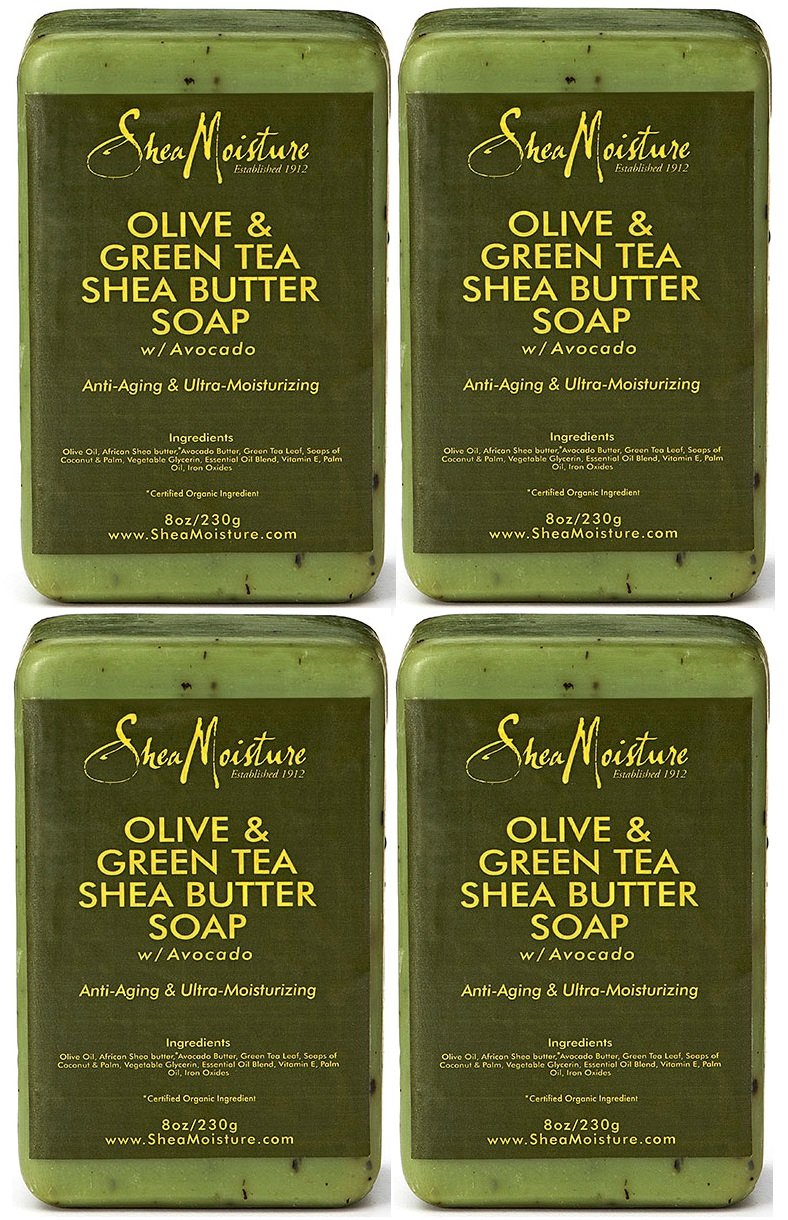 Shea Moisture Olive & Green Tea Shea Butter Soap, 8 Oz (Pack of 4)