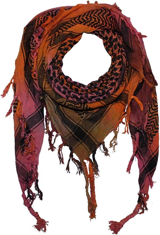 Freak Scene Kufiya - Keffiyeh - Tie dye-Batik-multicolored - negro ...
