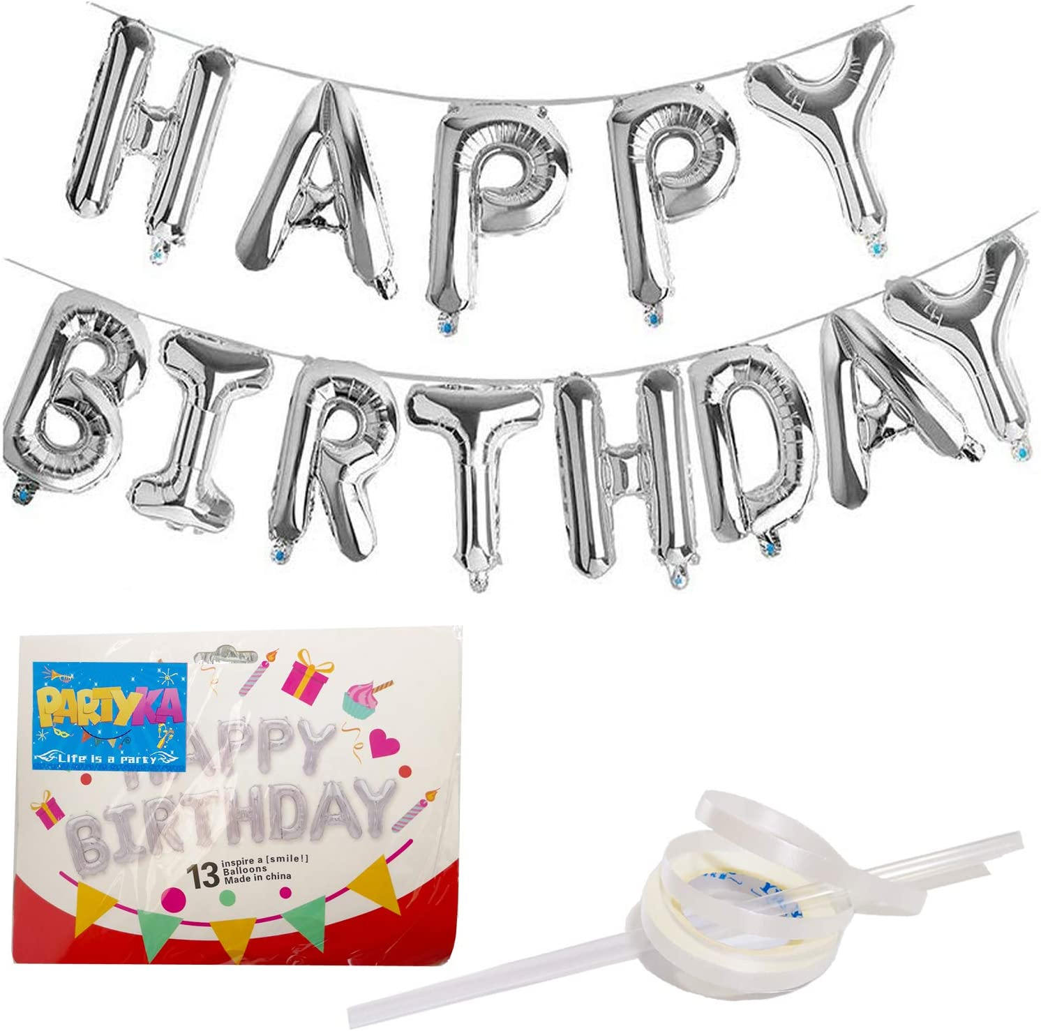 16th Happy Birthday Party Decora Banner Bunting Helium Balloons Self inflating