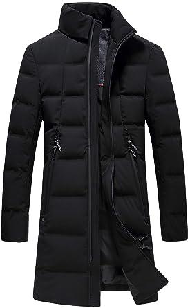 outlet store fec86 09498 SUNNY SHOP Packable Down Jacket Men Long Coat, Heavy Parka ...