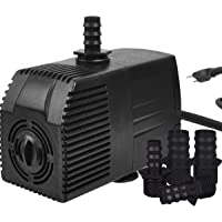 Simple Deluxe 400 GPH UL Listed Submersible Pump with 15' Cord, Water Pump for Fish Tank, Hydroponics, Aquaponics, Fountains, Ponds, Statuary, Aquariums & Inline