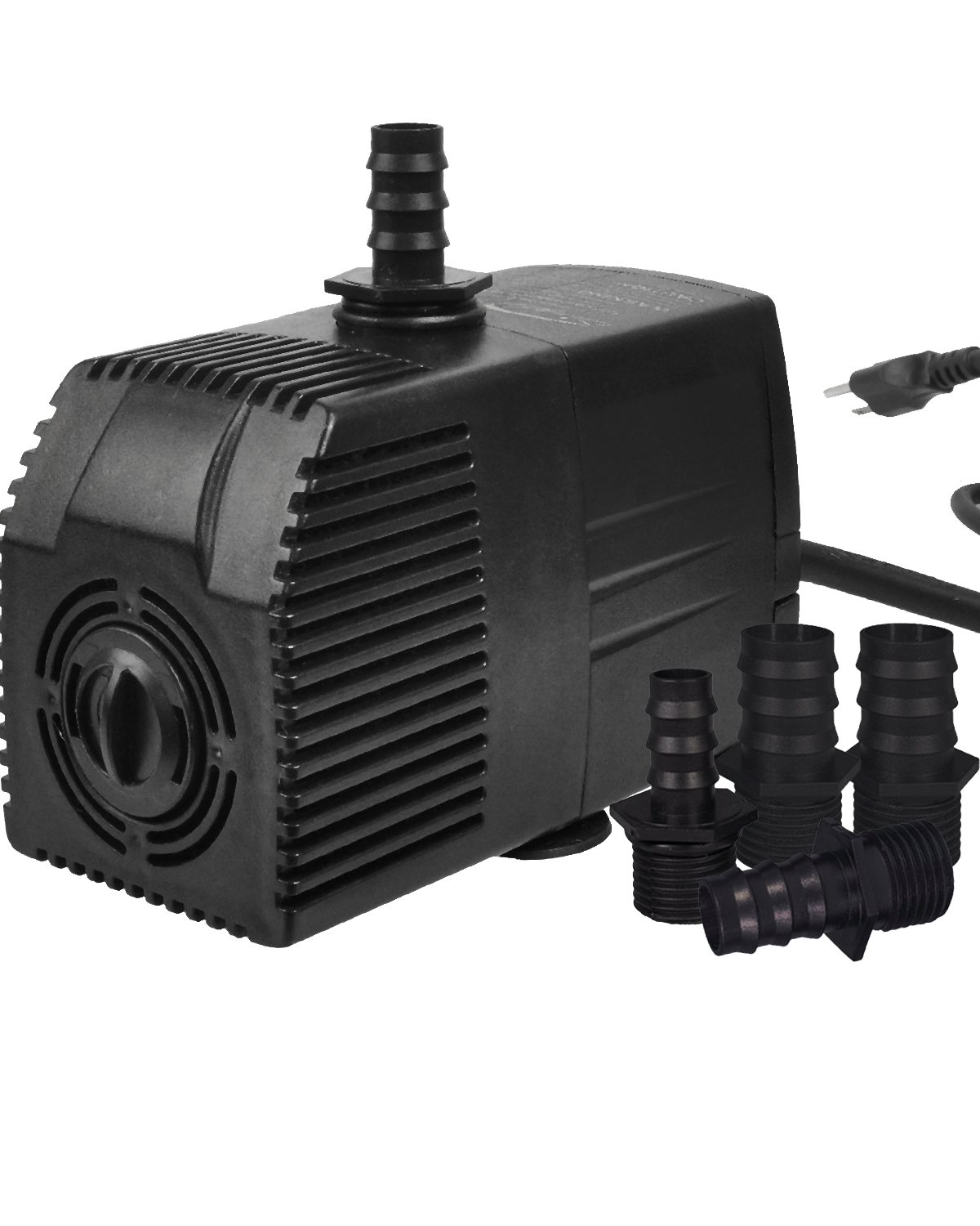 Simple Deluxe 400 GPH UL Listed Submersible Pump with Pre-Filter & 15' Waterproof Cord for Hydroponics, Aquaponics, Fountains, Ponds, Statuary, Aquariums & more