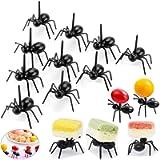 2 Dozen Reusable Ant Food Pick, Fruit Toothpicks Dessert Fork Cocktail Picks (24Pcs)-Animal Appetizer Forks for Snack…
