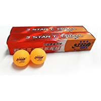 12x DHS 3 Star 40mm Table Tennis Ping Pong Competition Balls, Orange