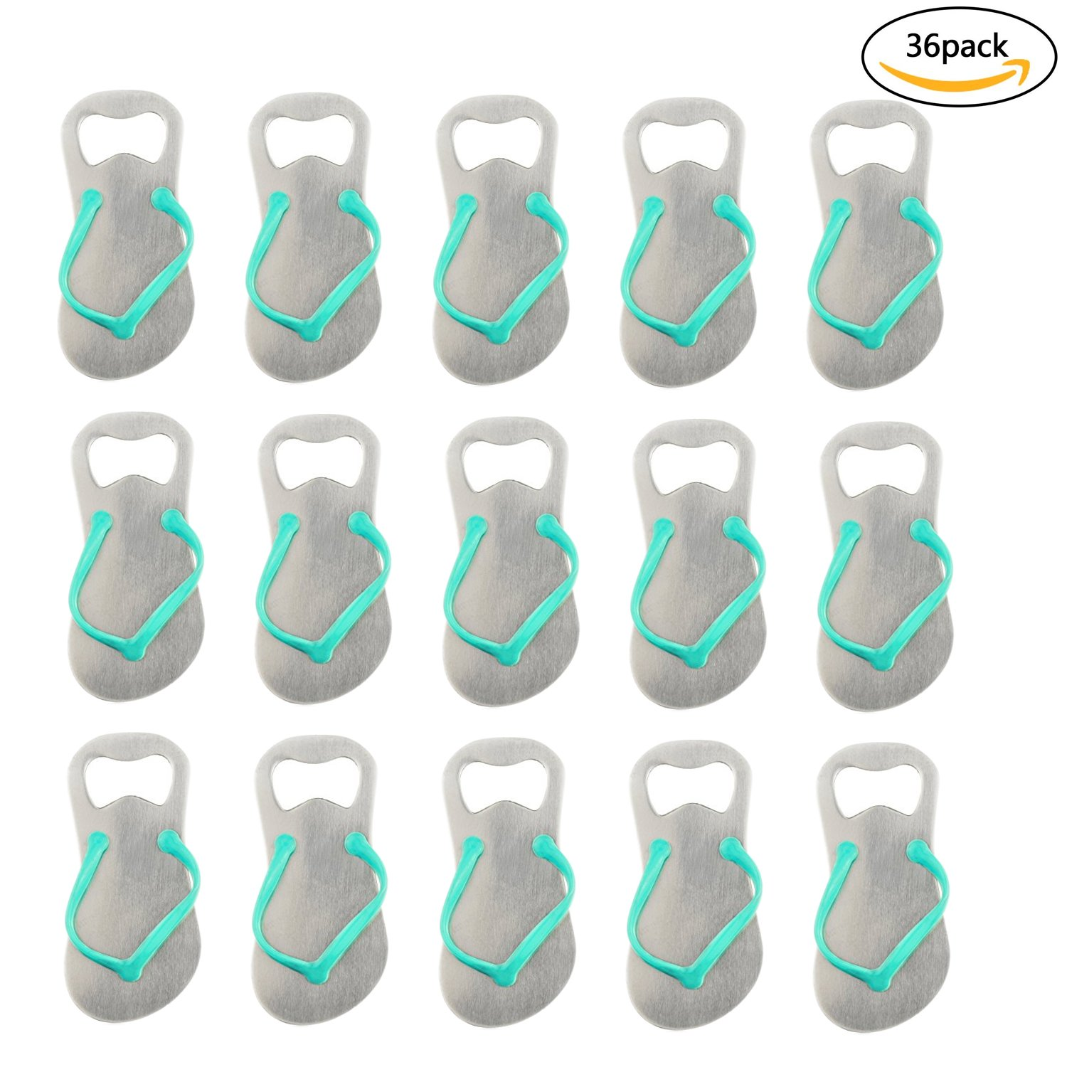 Flip-flop Bottle Opener Stainless Steel 36Pcs Wedding Souvenir w ...