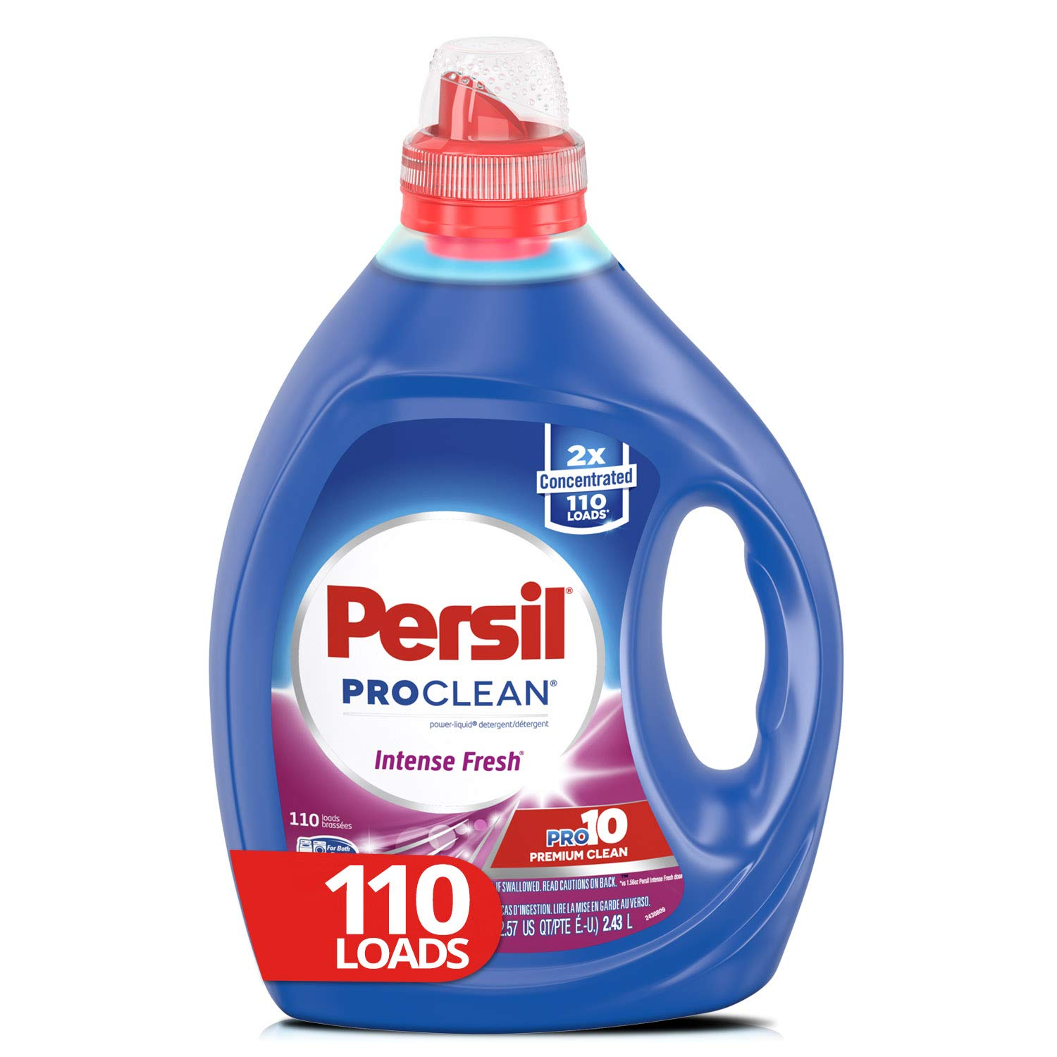 Persil Liquid Laundry Detergent, ProClean Intense Fresh, 2X Concentrated, 110 Loads by Persil