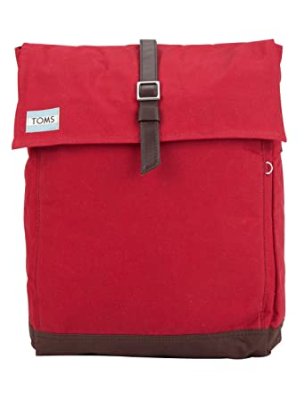 36cf1bdc56 TOMS Trekker Waxed Canvas Backpack Chili: Amazon.co.uk: Clothing