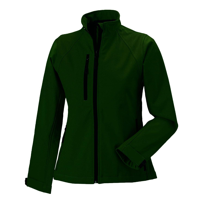 Vert Bouteille XS Russell Jerzees Colours - Veste softshell imperméable - Femme
