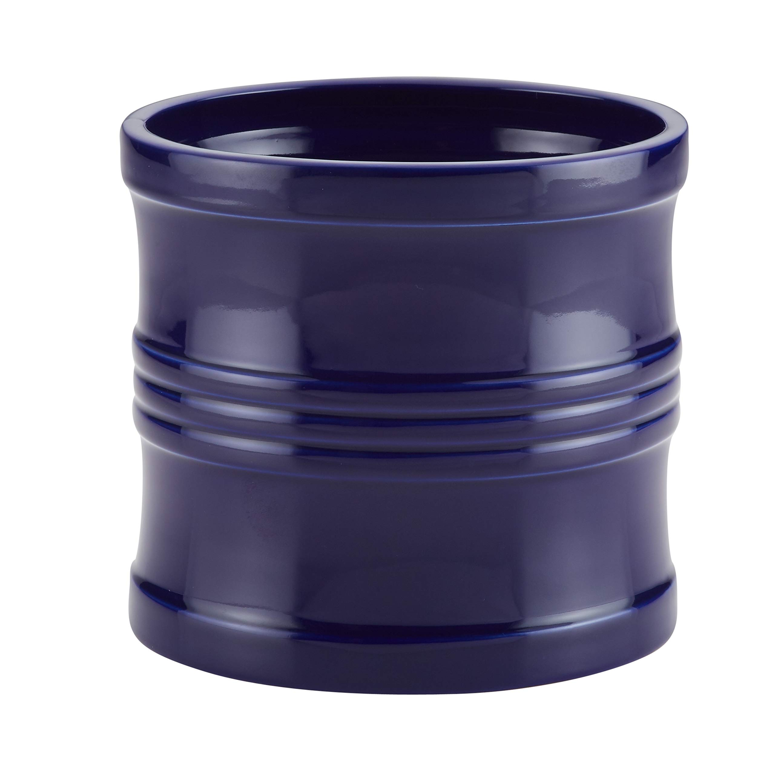Circulon Ceramics Tool Crock with Partition Insert, 7.5-Inch, Navy Blue by Circulon