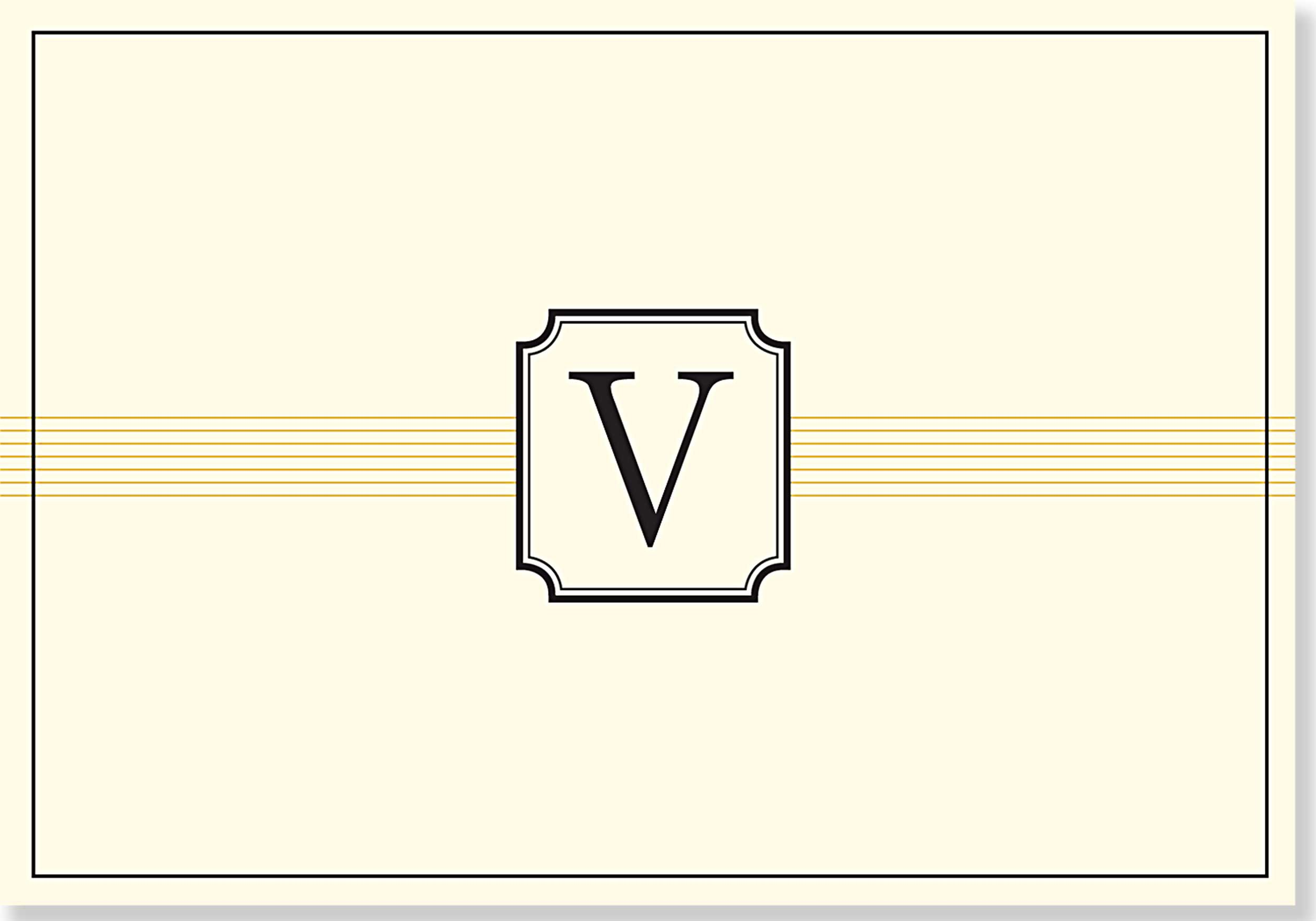 Monogram Note Cards: V (Stationery, Boxed Cards) pdf