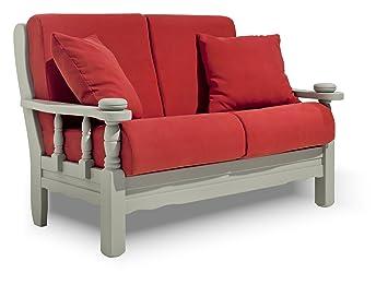 Divano Rustico Due Posti : Arredamenti rustici divano posti in legno massello finitura