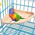 Wooden Perch Stand Platform for Bird Parrot Budgies Macaw African Greys Cockatoo Parakeet Conure Lovebird Finch Canary Hamste
