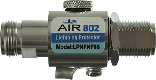 AIR802 Coaxial Lightning Surge Protector – N Jack-Female Bulkhead to N Jack-Female Connectors, 0-6 GHz