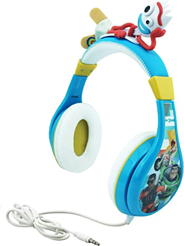 Kids Headphones for Kids Toy Story 4 Forky Adjustable Stereo Tangle-Free 3.5mm Jack Wired Cord Over Ear Headset for Children Parental Volume Control Kid Friendly Safe Packaging
