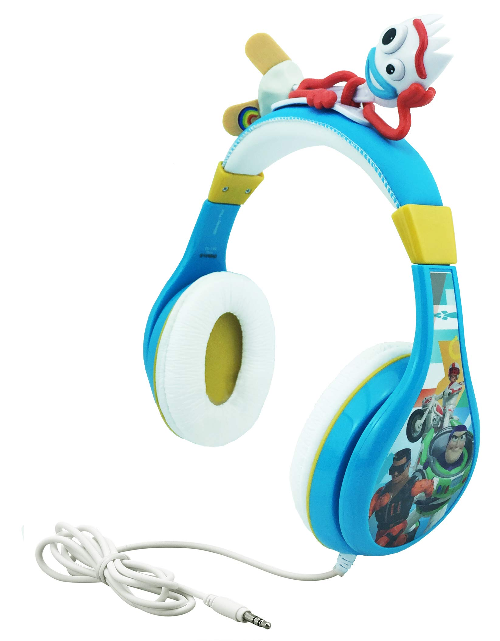 Kids Headphones for Kids Toy Story 4 Forky Adjustable Stereo Tangle-Free 3.5mm Jack Wired Cord Over Ear Headset for Children Parental Volume Control Kid Friendly Safe Perfect for School Home Travel by eKids