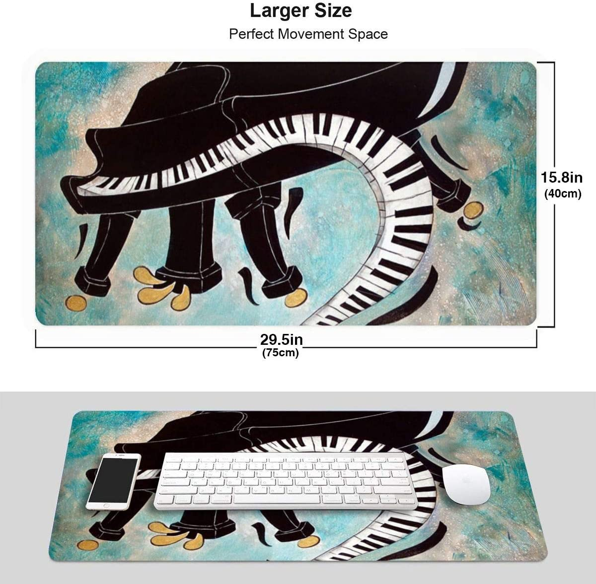 for Work /& Gaming Office /& Home Non-Slip Base Desk Pad Keyboard Mat Long Mousepad Love Cool Baseball Extended Gaming Mouse Pad with Stitched Edges Water-Resistant 29.5x15.7In