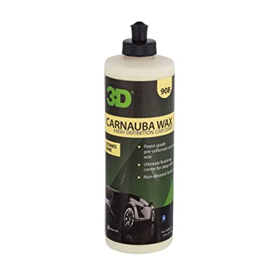 3D Carnauba Wax | Ultimate Protection & Deep Shine | Easy to Apply | Safe for Clear Coat & Conventional Paint Surfaces | Made in USA | All Natural | No Harmful Chemicals (16oz.): Automotive