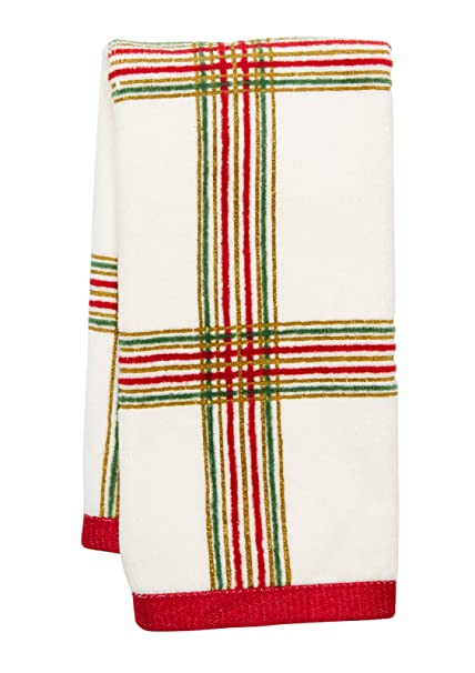 Lenox Holiday Nouveau Plaid Christmas Hand Towel