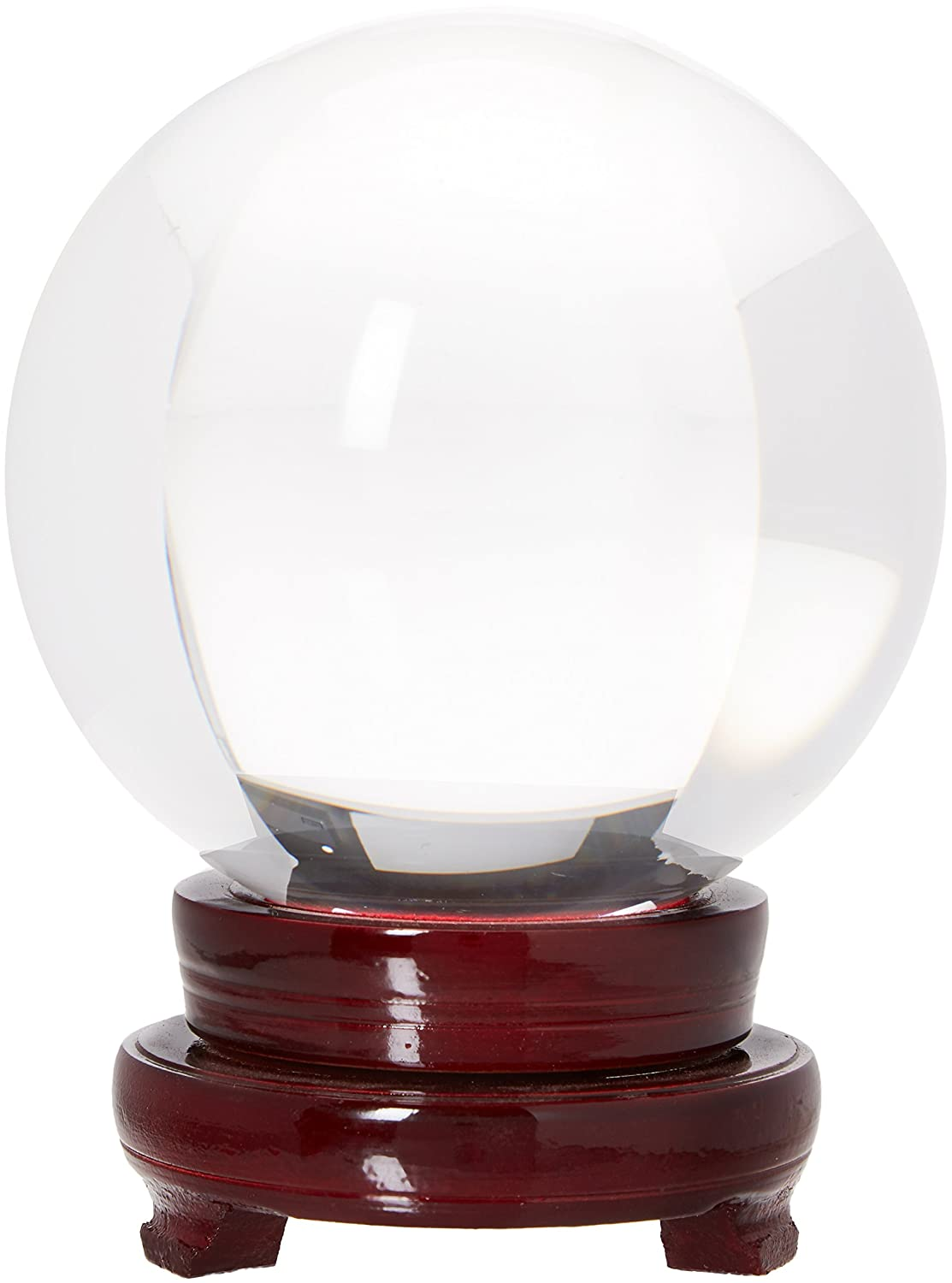 LONGWIN 120mm (4.7 inch) Large Crystal Divination Ball Photography Props Free Wooden Stand FBA_LS028B-KJ