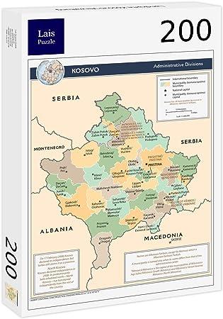 Lais Puzzle Mapa de la administración de Kosovo 200 Piezas: Amazon ...