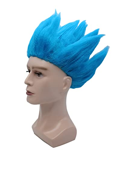 Amazon.com  SSJ Dragon Ball Movie Super Saiyan Son Goku Cosplay Wig  (Blue2)  Clothing 03d1b443bd66