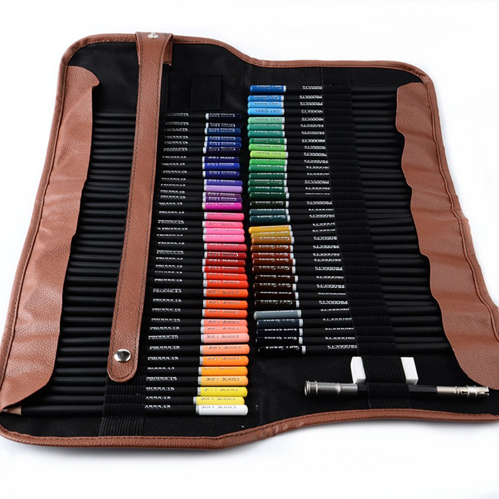 Wanlianer Stift malen 72 Farbbleistifte Student Malerei Briefpapier Farbe Bleistift Farbe Bleistift ölige Farbe Pinsel Bunte Stifte B07FKQXH2X | Hohe Qualität