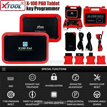 Xtool para Pad Tablet OBD2 Auto programador EEPROM de con adaptador Pin DPF ECU aceite reset apoyo funciones especiales: Amazon.es: Coche y moto
