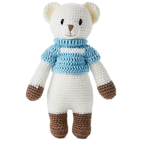 "Boy Hand Knitted Premium Stuffed Bear, 12.5"" Classic Stuffed Animals"