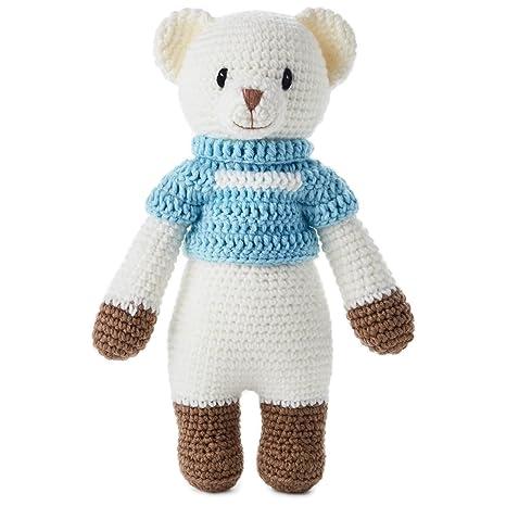 "Boy Hand Knitted Premium Stuffed Bear, 12.5"" Classic Stuffed Animals"