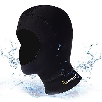 Junlan 3mm Neoprene Diving Hood Full Face Mask Warm Swimming Cap Wetsuit  Hooded for Men   ab8fe7bc35