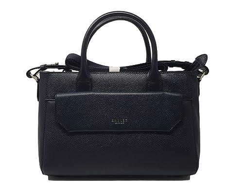 5f8f12377 Radley Chelsea medium leather zip top multiway handbag/Shoulder bag in  Navy: Amazon.co.uk: Shoes & Bags